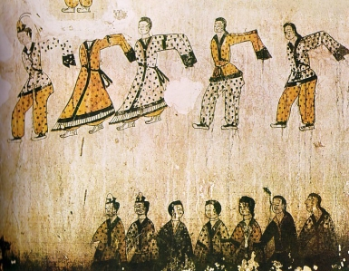 Korean-wall-painting-depicting-dance